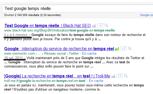 indexation google en temps reelle