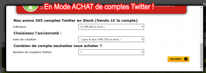 achat compte twitter